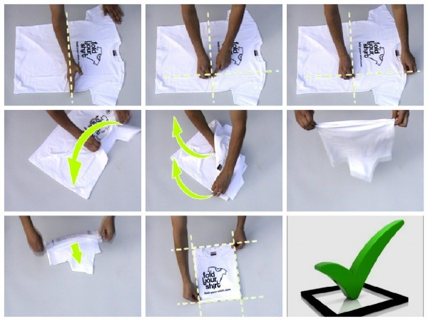 how to fold tshirt