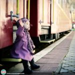 child with train
